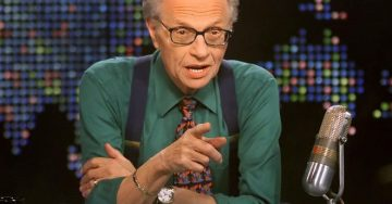 "Larry King on his TV Show ""Larry King Live"""