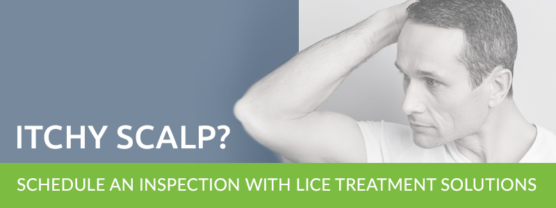 "Banner reading ""Itchy Scalp? 