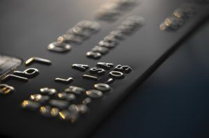 Picture of a black credit card.