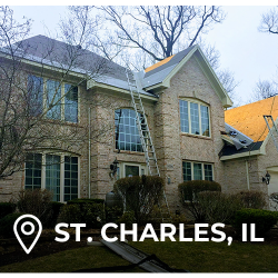 elite exteriors in Chicago roofing on a St. Charles home