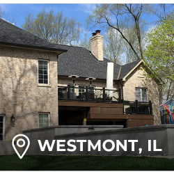 Roof installation on a home by elite exteriors in Chicago