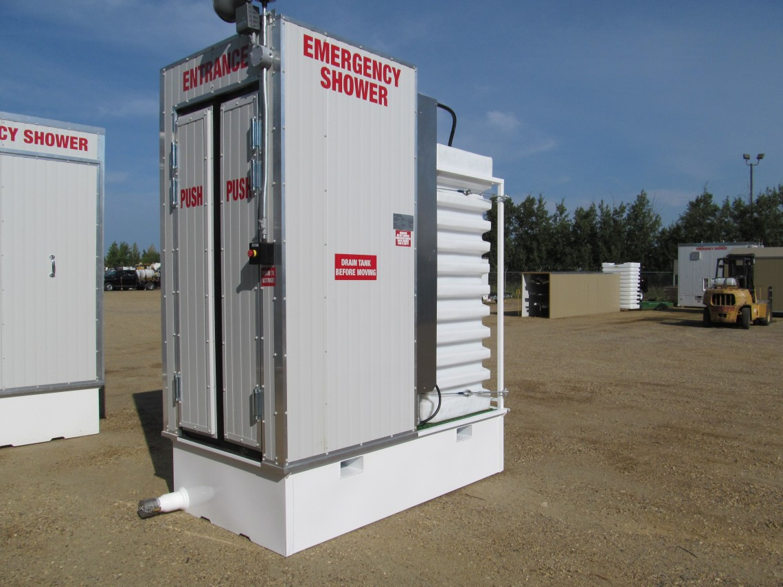 400 Gallon Indoor Emergency Shower | Enerflush