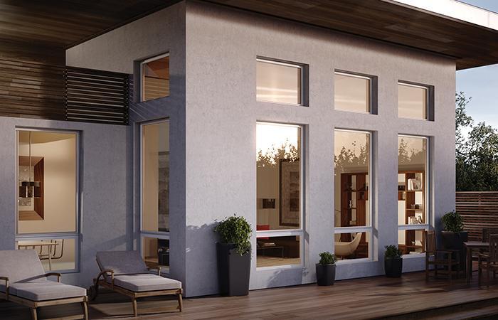 Aluminum windows by Milgard