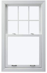 Vinyl window frame