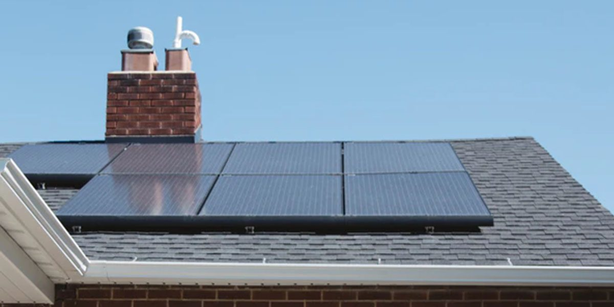 solar panels on california home