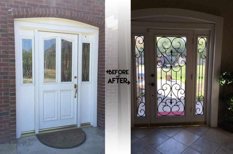 Hollywood Doors Stained Glass Front Door Entry Brite
