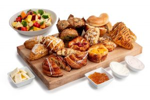 Breakfast and pastries buffet