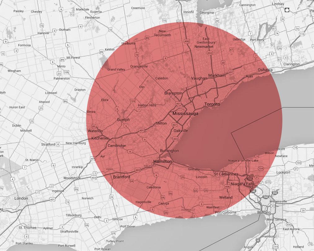 Pest Control Service Area in Toronto