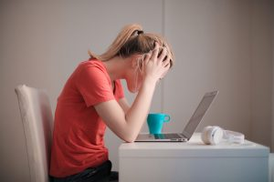 Stressed using telehealth
