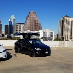executesla, model x, model s, tesla, motors, atx, austin, wedding, getaway, get, away, black, white, hotel, vip, convoy, airport, drone