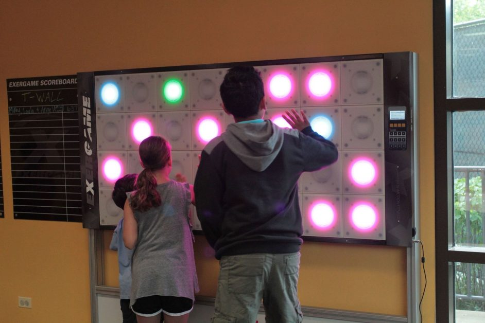 tWall Interactive Fitness Wall in Schools