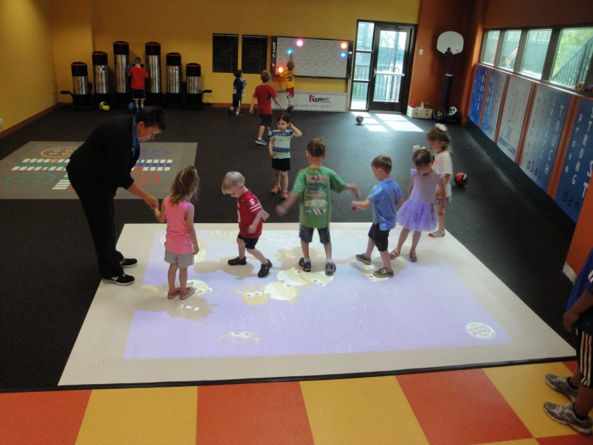 EyePlay Beam Exergame Interactive Projection Surface