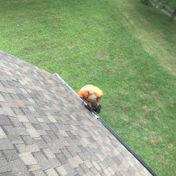 Installing gutter guards on a home in Nashville