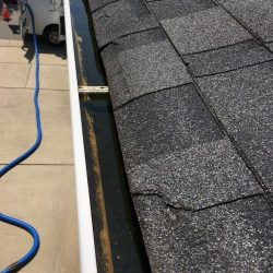 Clogged gutters that need gutter cleaning service