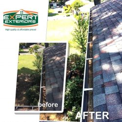Nashville gutter cleaning services before and after