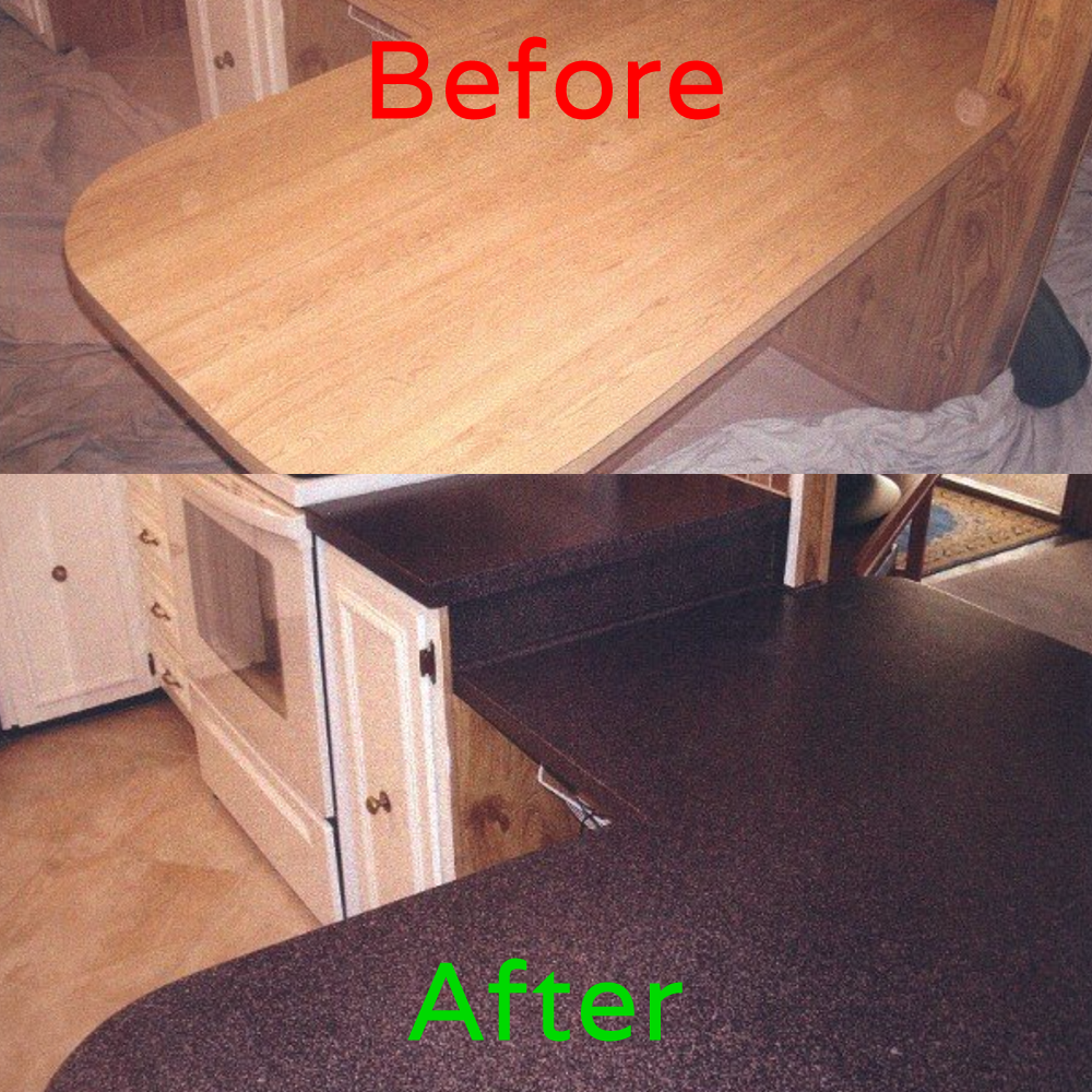 Painting Decorating Wirral Before After Resurfacing: Resurface Laminate Table Top