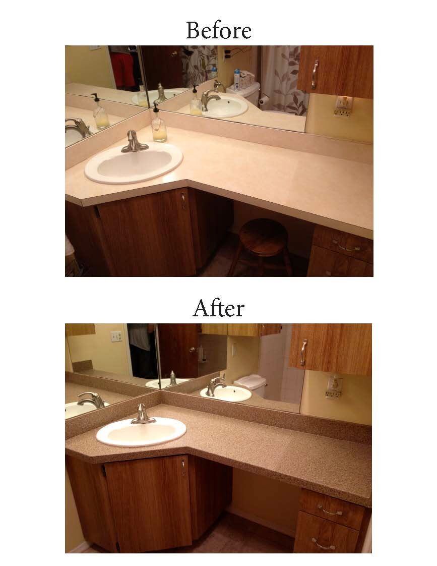 Countertop Refinishing Chesapeake Vanity Resurfacing