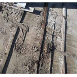 """roofing layer showing signs of """"blot rot"""""""