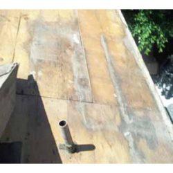 Decking damaged by moisture