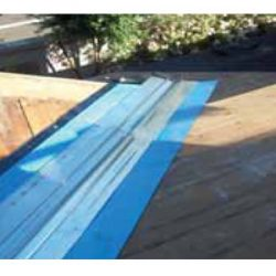"""36"""" rubber membrane in a roof valley"""