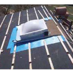 rubber membrane around a skylight