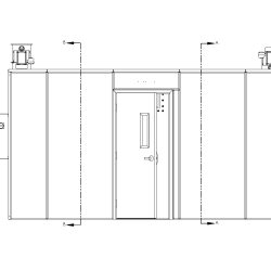 150 Square Foot Extraction Room in Elevation of Entry