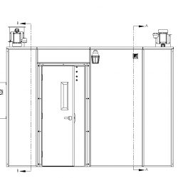 120 Square Foot Plant Oil Extraction Booth Door Elevation
