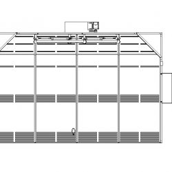 355 Square Foot Extraction Room in Elevation Displaying Ventilation Chamber