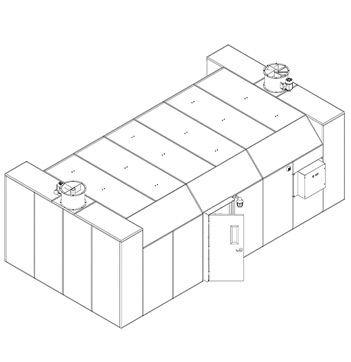 345 Square Foot Plant Oil Extraction Booth Isometric Drawing