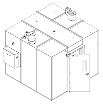 85 Square Foot Plant Oil Extraction Booth Isometric Drawing