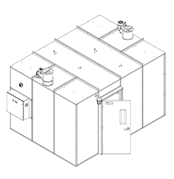 120 Square Foot Plant Oil Extraction Booth Isometric Drawing