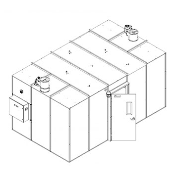 150 Square Foot Plant Oil Extraction Booth Isometric Drawing