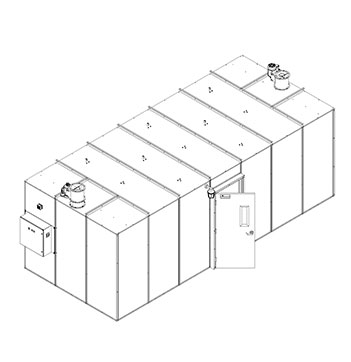 215 Square Foot Plant Oil Extraction Booth Isometric Drawing