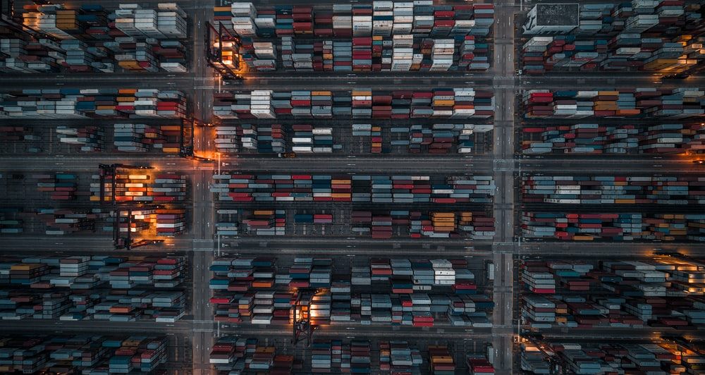 massive warehouse seen from above