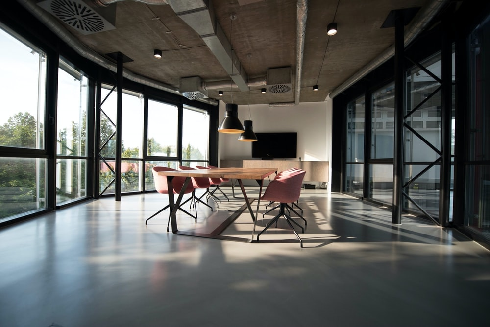 a conference room in an office