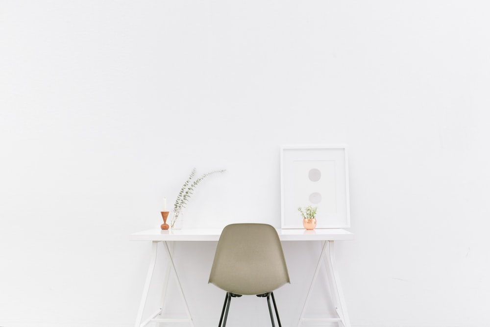 A clean, attractive workspace