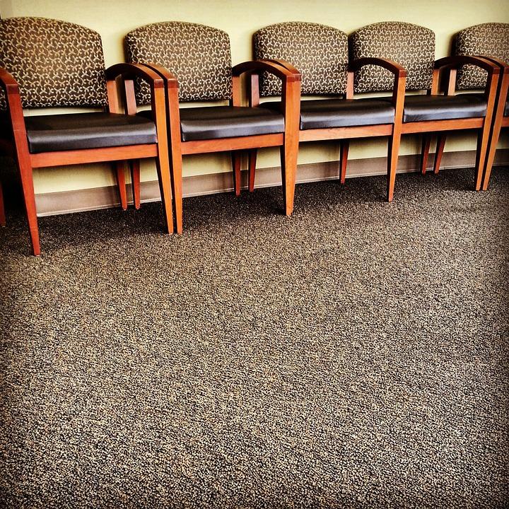 A clean commercial carpet