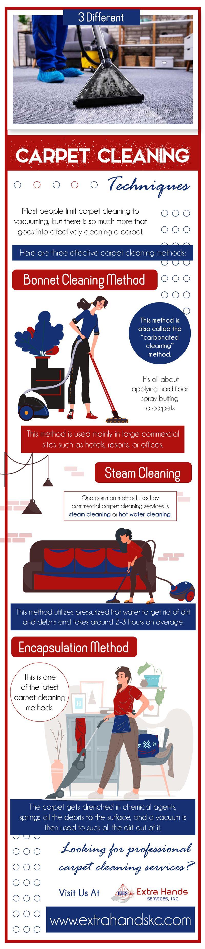 3 Different Carpet Cleaning Techniques