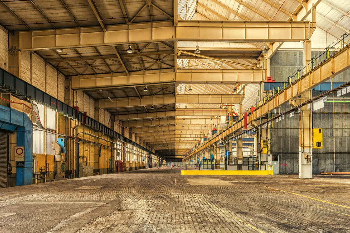 warehouse with open space