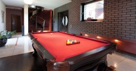 red felt pool table
