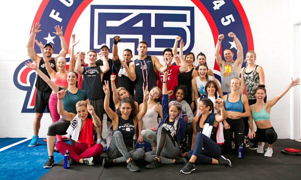 F45 gym members