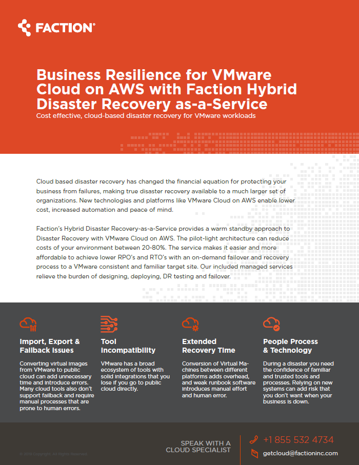 Hybrid Disaster Recovery-as-a-Service (Hybrid DRaaS) for VMware