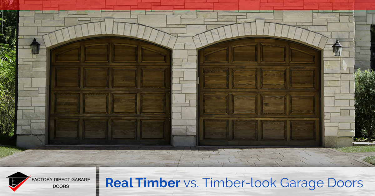real timber vs timber look garage doors