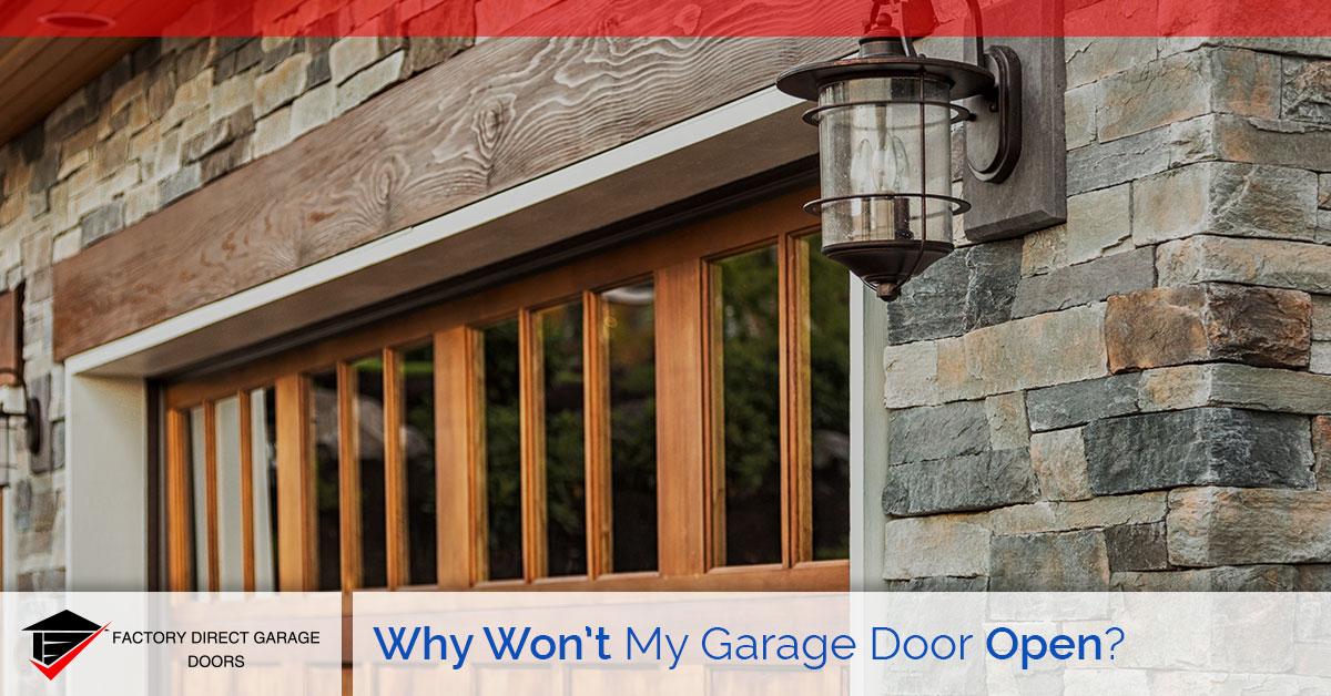 why won't my garage door open