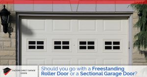 roller or sectional garage door