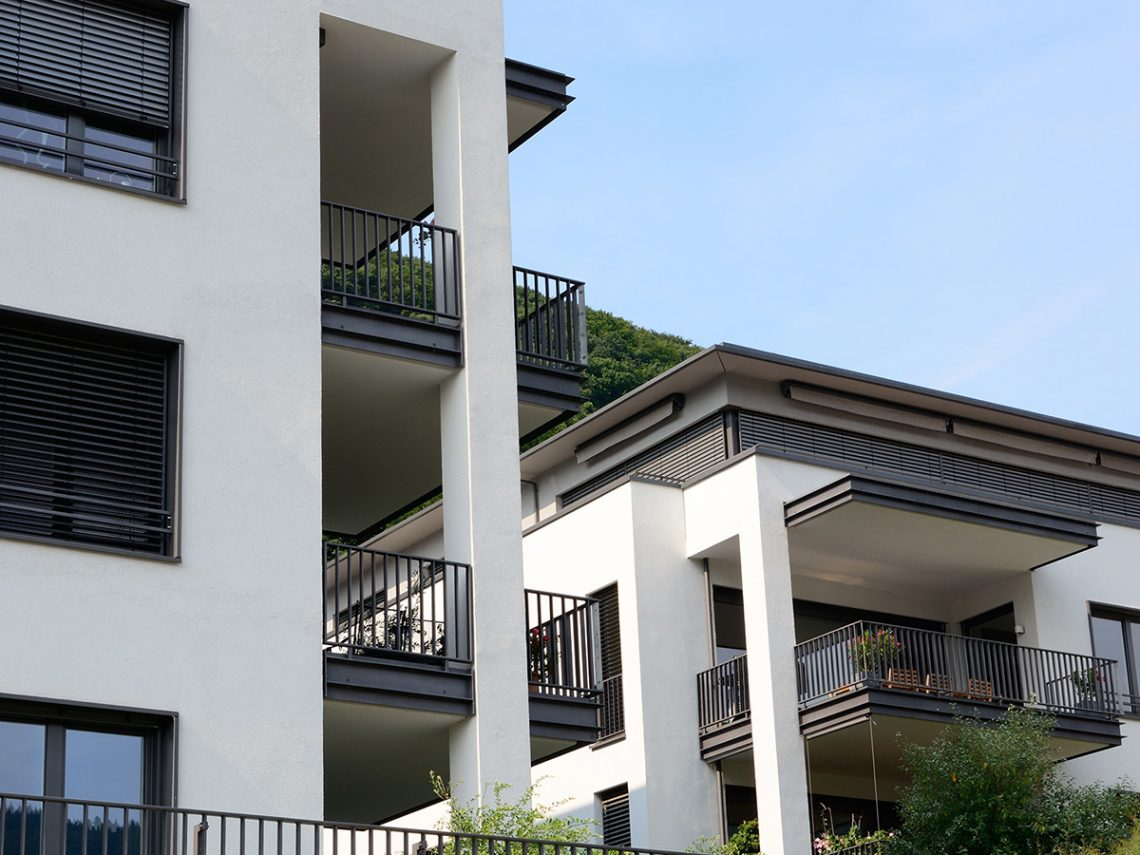 Modern luxury apartments in Germany.