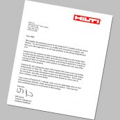 A certificate from HILTI for our tornado shelter company