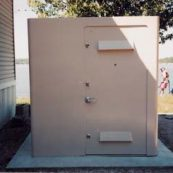 Outdoor custom tornado shelter