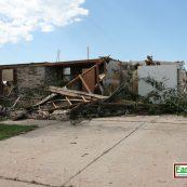 FamilySAFE tornado shelter after a large natural disaster