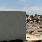 A storm shelter from FamilySAFE Shelters still standing strong